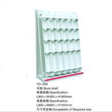 Doppeltes und einzelnes Stahlmetallbuch-Anzeigen-Regal