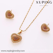 62223- Xuping Fine jewellri gold plated heart shape charm set