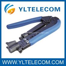 Conector Coaxial RG59/RG6/RG11 F de compressão ferramentas de friso