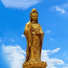 Benutzerdefinierte religiöse Metall Skulptur Bronze große Buddha-Statuen zu verkaufen