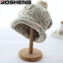 Chapeaux en tricot unisexe en hiver avec Pompom