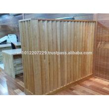 Bintangor Holz massiv / Technik Wandpaneel / Bodenbelag