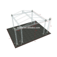shanghai customize aluminum truss outdoor event display/ outdoor truss system with wood stage or floor