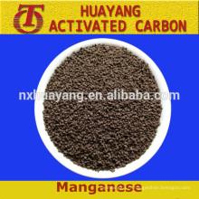 Matériel de filtre de prix de sable de dioxyde de manganèse pour le traitement de l'eau