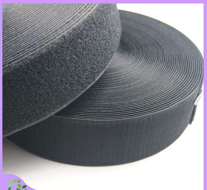 Silver nylon Hook&Loop Velcro fasteners