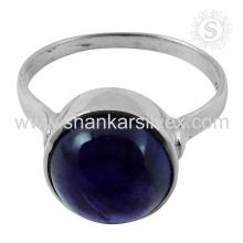 Novo Espetacular Amethyst Gemstone Silver Ring atacado 925 Sterling Silver Jewelry Jaipur Handmade Online Silver Jewelry