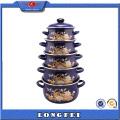 Clean and Health Turkey 5sets Porcelain Enamel Casserole Set