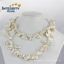 "12-16mm Biwa Pearl Long Necklace 36"" Single Pearl Necklace"