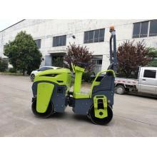 Compacteur hydraulique de rouleau de pavage de vibrateur hydraulique de double roue de puissance d'essence Honda de 1 tonne