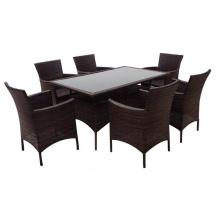 Melhor preço alumínio dobrável, mesa de jantar e cadeira