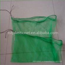 100% HDPE девственницы даты сбора урожая зеленый пакет мешок сетки