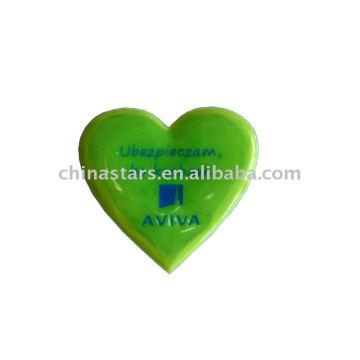 reflective Heart type sticker meeting EN471, ANSI/ISEA 107-2010