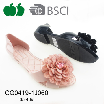 2017 Fancy Ladies Flower Jelly Shoes Sandals