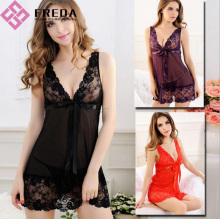 Best Price for for Best Babydoll Lingerie,Black Sexy  Lace Lingerie,Transparent Lingerie Dress,Women Lace Underwear for Sale Black Lace Edge Transparent lingerie dress export to Indonesia Manufacturers