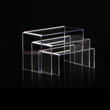 U-shaped Acrylic Display Stand Holder Risers Counter Set
