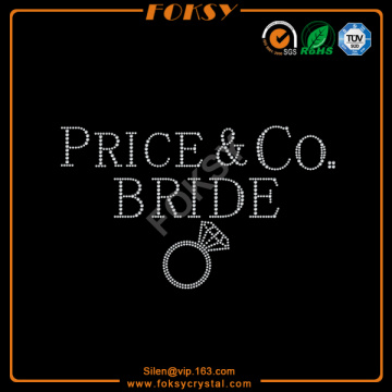 OEM for China Supplier of  Bride Rhinestone Transfer, Bride Hotfix Rhinestone Design, Bridal Rhinestone Appliques Bride iron on rhinestone diamond supply to Trinidad and Tobago Factories