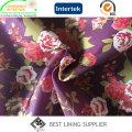 Полиэстер красивая и модная повседневная одежда печати Подкладка ткань Китай Производитель