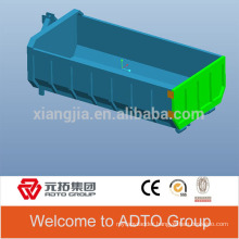 Garbage collection vehicle sanitation vehicle tipping bucket