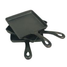 Poêle à frire pré-assemblée Amazon, mini-poêle carrée en fonte, 5 x 4 po