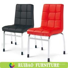 El cuero barato del tubo del metal de la venta caliente que cena la silla / silla barata del comedor, silla del metal