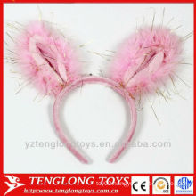 new design plush big ear hairband for girls