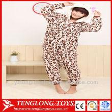 Hübscher leoparddruck hallo kitty tierpyjamas für erwachsene cosplay