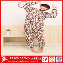 pretty leopard print hello kitty animal pajamas for adults cosplay