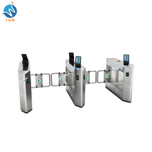 Swing Turnstile Gate Access Control with Face Recognition Camera System