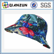 Custom Design Label Logo Popular Floral Blank Bucket Cap