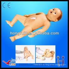 Maniquí avanzado del oficio de enfermera del bebé para el entrenamiento médico y la simulación de la ciencia médica Modelo infantil