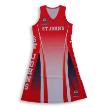 Women digital print sublimated netball jersey dress