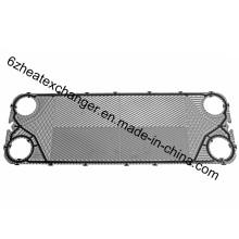 Пластина AISI 304 для пластинчатого теплообменника с прокладкой (M3)