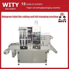 Máquina automática de estampado y troqueladora de etiquetas de holograma