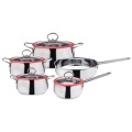 New stainless steel 9pcs belly shape cookware set