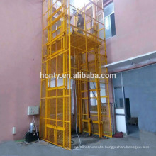 2 t capacity 4 post vertical hydraulic lead rail lift/ elevator