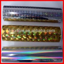 pet metallized thermal lamination films/hologram thermal lamination film/bopp lamination film