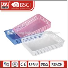 Promotation ecológico wholesales cesta plástica do armazenamento multi-uso PP