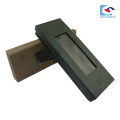 En gros nouveau design cravate cadeau papier emballage boîte avec fenêtre pvc