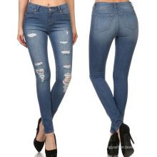 2018 mujeres calientes de la venta de alta cintura de moda jeans ajustados