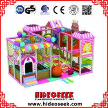 Прекрасный розовый маленький дешевое Крытое оборудование спортивной площадки для детей