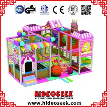 Belle rose petit équipement de jeu intérieur pas cher pour les enfants