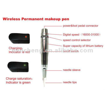 Machine de maquillage permanente rechargeable et accessoires de tatouage
