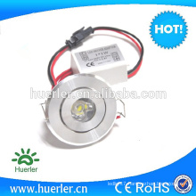 1W Recessed LED Ceiling Light led downlight 230v round recessed led down light
