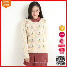 Chaqueta de punto de moda hecho a mano suéter de acrílico colorido suéteres