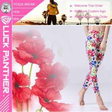 Jambières florales imprimées par sublimation colorée de nouvelle conception pour la forme physique de femmes