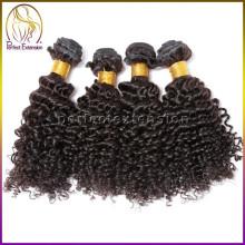 china venta por mayor mercancía 100 virgen mongol afro rizado trenzado del pelo para las mujeres