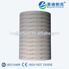 Disposable Medical EO Sterilization Syringe Blister Paper Packaging Reel