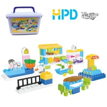 Educational Building Block Toy with Storage Bucket