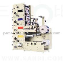 Máquina de impressão flexográfica de etiquetas totalmente automática (tipo de pilha de largura estreita)