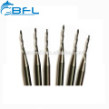 BFL Tungsten Solid Carbide 2 Flutes Tapered Ball Nose End Mills For Wood
